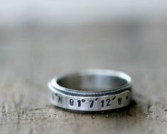 super cute latitude longitude ring.