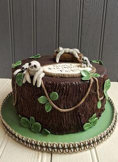 Eat My Cake London um yes Cupcakes, Cake Cookies, Cupcake Cakes, Sloth Cakes, Cumpleaños Diy, Jungle Cake, London Cake, Cupcake Birthday Cake, Funny Cake