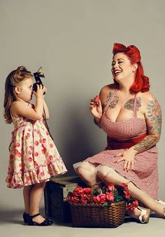 Child rockabilly photographer.