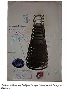Fortunato Depero - Bottiglia Campari Soda - anni '30