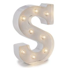 Darice LED Marquee Letter Table Decor, White