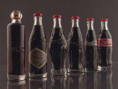 Coca Cola history (left to right)... 1899 - 1904 - 1915 - 1920 - 1957 - 1986