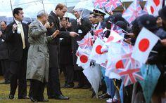 telegraph:  Royal Tour of Japan, Day 1, February 26, 2015-The Duke of Cambridge greets students at Hamrikyu Gardens, Tokyo