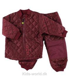 Mikk-Line Termotøj - Bordeaux - Børnetøj med fri fragt.