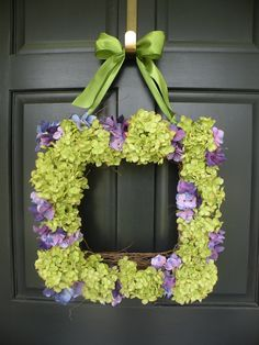Gorgeous Hydrangea Wreath!