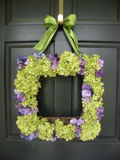 Gorgeous Hydrangea Wreath!