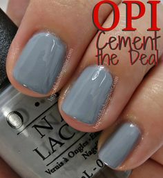 OPI Cement the Deal Nail Polish Swatches - 50 Shades of Grey Collection