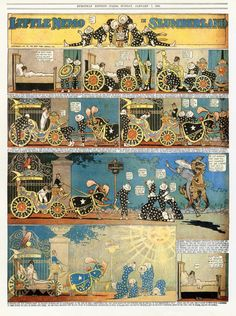 Winsor McCay, Little Nemo in Slumberland, New York Herald, European Edition, Paris, 7 janvier 1906.