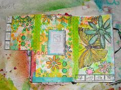 Week 8 challenge .... add a flap to your tip-in. Carol McDaniel art