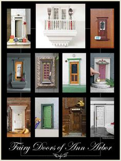 Fairy doors.  An installation art project in Ann Arbor.  I want to create fairy doors in unexpected places.