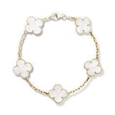 Vintage Alhambra bracelet, 5 motifs, Gold - VCARA41800 - Van Cleef & Arpels
