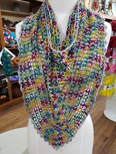 Finfeather Showl - free crochet shawl cowl hybrid pattern by Susan Gater. DK yarn.