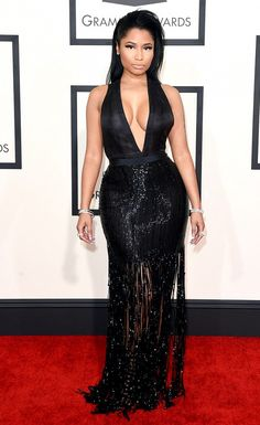 Who: Nicki Minaj Every Single Grammy Awards Red Carpet Look You NEED to See via @WhoWhatWear