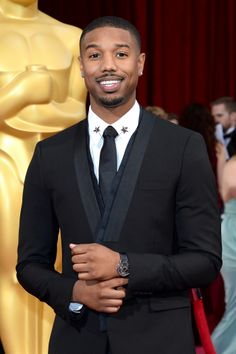 3da4d0eb6540d9 Piaget Altiplano in white gold on a black alligator strap worn by Michael B.  Jordan at the Academy Awards.