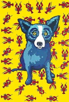 Cajun Feast- George Rodrigue ... never could get with the Blue Dog, but he was beloved by many others