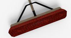push broom Blender 3D model