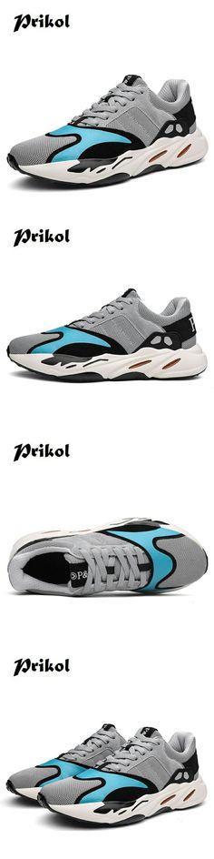 c04fb21f9ea US   Prikol Luxury Brand High Quality Tenis Masculino Men Breathable Sport  Tennis Shoes… -