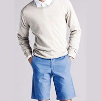 Linen Cotton Crew Neck Jumper £19.90, Linen Shirt £29.90 Linen Shorts, £14.90 Image by shoplondon.standard.co.uk/