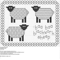 ovelhas.ponto cruz. gráfico.