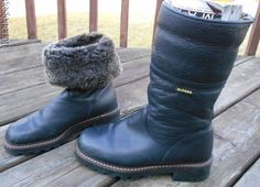BLONDO Black Leather Shearling Lined Insulated Water Proof BOOTS Womens 8 B 8B #Blondo #SnowWinter