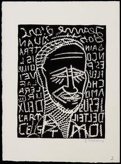 Portrait de Joseph Delteil: gravure sur lino de Jean Vodaine