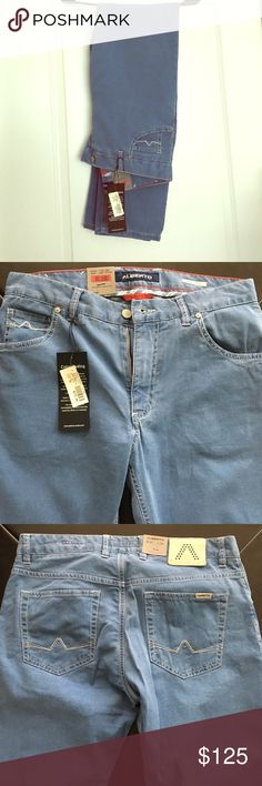 AUTHENTIC MENS ALBERTO JEANS AUTHENTIC LIGHT BLUE ALBERTO JEANS 👖 MODERN FIT! GREAT MATERIAL! EXTREMELY SOFT AND COMFORTABLE ALBERTO PANTS Jeans Slim Straight