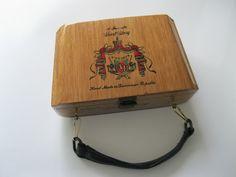 A Fuente Wood Cigar Box Purse by GotMilkGlassAndMore on Etsy, $16.95