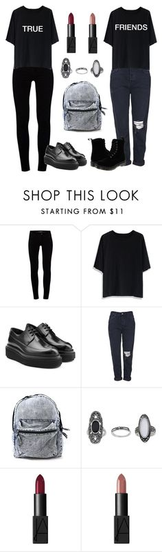 """""""- True Friends stab you in the front -"""" by uccelli ❤ liked on Polyvore featuring J Brand, Chicwish, Pierre Hardy, Topshop, NARS Cosmetics and Dr. Martens"""