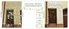Etapy- grafika komputerowa- szyld reklamowy 🌿 #organicworldcosmetics #kosmetykinaturalne #salon #szyld #grafika #przed #projekt #po