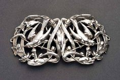 Edward VII silver Art Nouveau belt buckle  Year: 1905 | JV