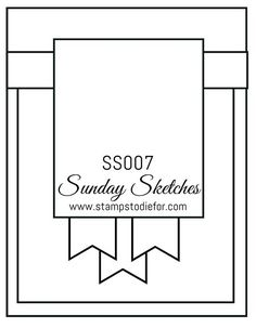 Sunday Sketches SS007 by Stamps to Die For                                                                                                                                                                                 More