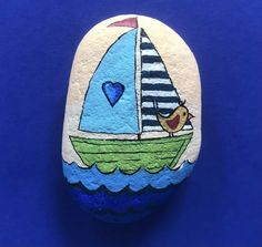 Pebble Painting, Pebble Art, Stone Painting, Painted Clay Pots, Hand Painted Rocks, Rock Painting Ideas Easy, Rock Painting Designs, Beauty Illustrations, Lucky Stone