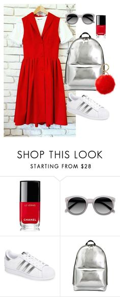 """""""Untitled #127"""" by julia-sidorenko on Polyvore featuring Chanel, Ace, adidas, 3.1 Phillip Lim and Iphoria"""