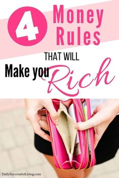 These 4 simple rules of money will change the way you think about money and investing. Once you learn the basic money rules you are on your way to creating wealth. Wealth Management, Money Management, Money Tips, Money Saving Tips, Financial Tips, Financial Planning, Financial Literacy, Creating Wealth, Planning Budget