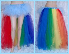 Rainbow dash tutu - possible costume for Ry? My Little Pony Costume, My Little Pony Party, Rainbow Dash Costume, Rainbow Tutu, Halloween Fun, Halloween Costumes, How To Make Tutu, Cosplay Tutorial, Costume Shop