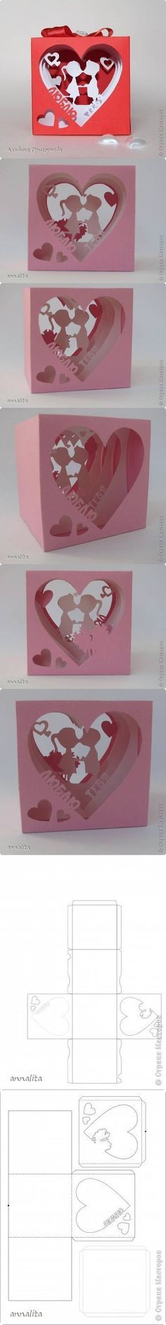 Caja corazón para San Valentín   -  DIY Valentines Heart Box