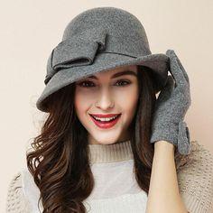Fancy Hats, Cute Hats, Felt Cowboy Hats, Fedora Hat Women, Women Hats, Top Hats For Women, Felt Hat, Wool Felt, Stylish Hats