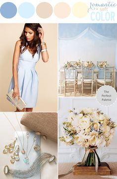 Color Story | Romantic + Soft Color! http://www.theperfectpalette.com/2013/07/color-story-romantic-soft-color.html