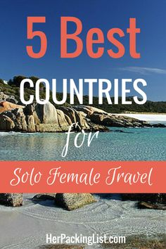 If you're not a seasoned traveler and are considering setting off on your own for the first time, you're probably wondering where to go. Here are five of the safest countries in the world for women traveling alone.