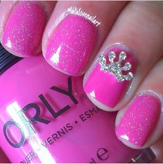 Little Girl Nail Design Ideas ideas nail designs nail painting beauty tips sexy nail art hot girls Really Cute Girl Nails Also Can Be For Little Girls I Really Like These Because Usually People Call Me Princess And It Has A Princess Crown So I Really Like