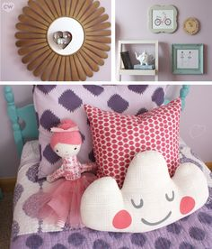 A feminine room yet will easily grow with the kiddo.  //  I may secretly want this but it would be for Haley.  I lurve purple!  Walls would be white cream or something though.