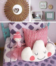 A feminine room yet will easily grow with the kiddo.