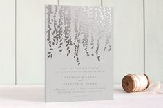 Cascade Foil-Pressed Wedding Invitations by Lori Wemple at minted.com. 155 at $380.00