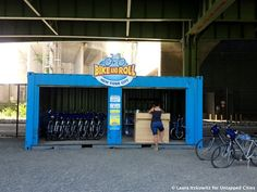 Shipping container bike rental Riverside Park Harlem NYC Untapped Cities