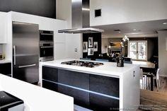 Modern Black And White Kitchen Island Hood Designer Kitchens La 13 Designerkitchensla