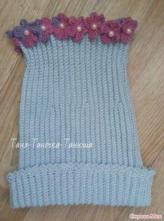 Crochet hat with flowers. - Zekiye Kasnak - - Crochet hat with flowers. Diy Crafts Knitting, Diy Crafts Crochet, Knitting For Kids, Loom Knitting, Baby Knitting, Knitting Patterns, Crochet Patterns, Crochet Flower Hat, Crochet Baby Beanie