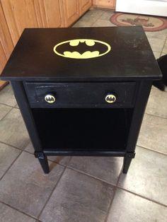 Repurposed Batman Nightstand