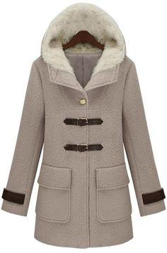 Beautiful Tan Hooded Coat