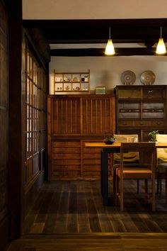 Мебель в японском стиле на кухне.