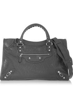 Balenciaga|City textured-leather tote|NET-A-PORTER.COM